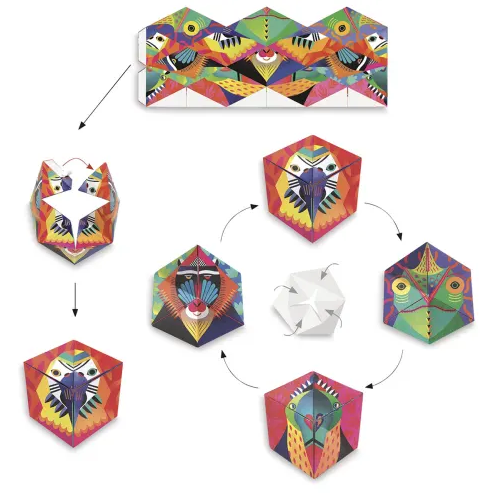 Flexanimals Origami Set by Djeco