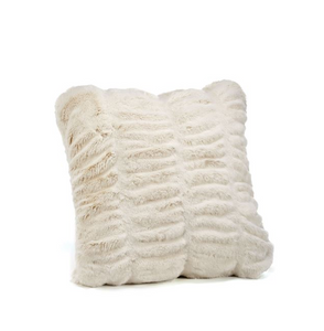 Couture Collection Ivory Mink Faux Fur Pillow