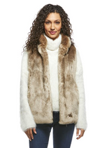 Load image into Gallery viewer, Champagne Mink Couture Faux Fur Hook Vest