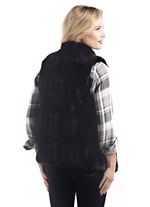 Load image into Gallery viewer, Onyx Mink Couture Faux Fur Hook Vest