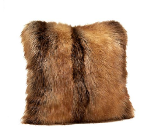 Limited Edition Red Fox Faux Fur Pillow