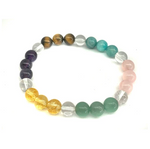 Load image into Gallery viewer, Seven Chakra Gemstone Bracelet