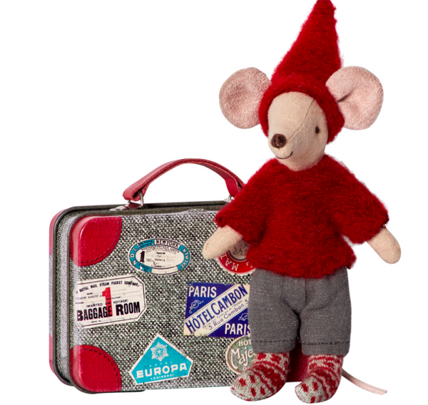 Maileg Travel Pixie Mouse w. Suitcase