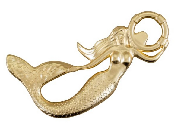 Coated Brass Mermaid Bottle Opener
