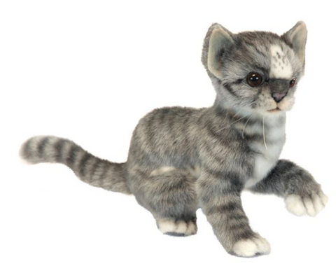 Gray and White Kitten by Hansa Toys