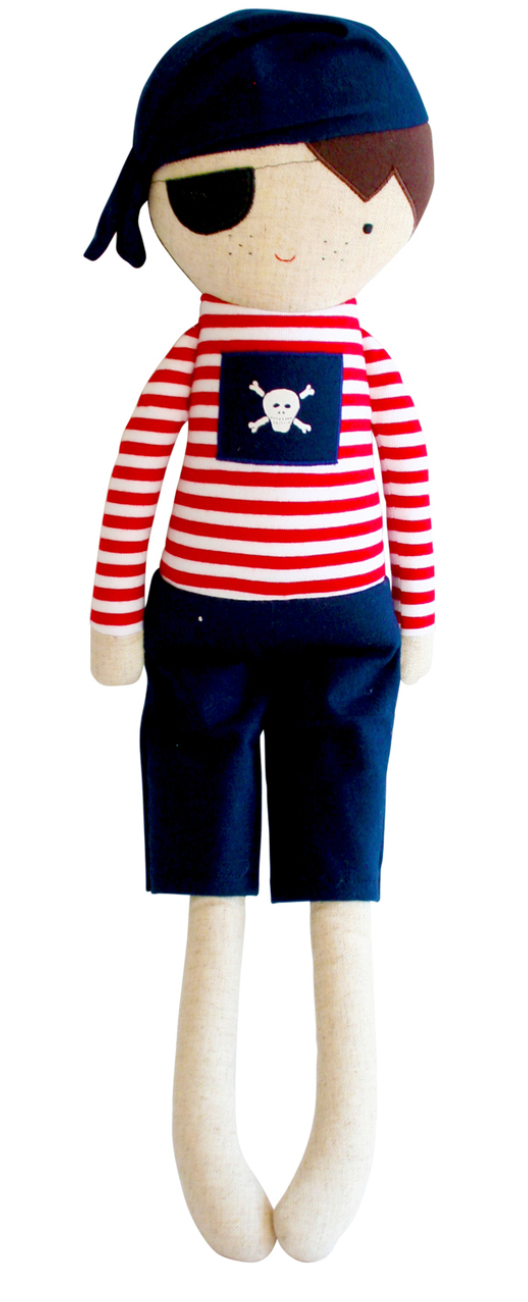 Linen Pirate Boy, Navy and Red - Wanderlustre
