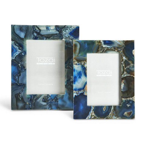 Blue Agate Picture Frames