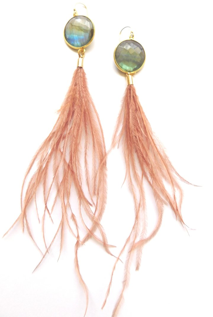 Heather Kahn Sensei Feather Earrings - Wanderlustre