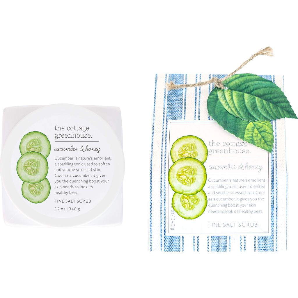 The Cottage Greenhouse Cucumber and Honey Fine Salt Scrub - Wanderlustre