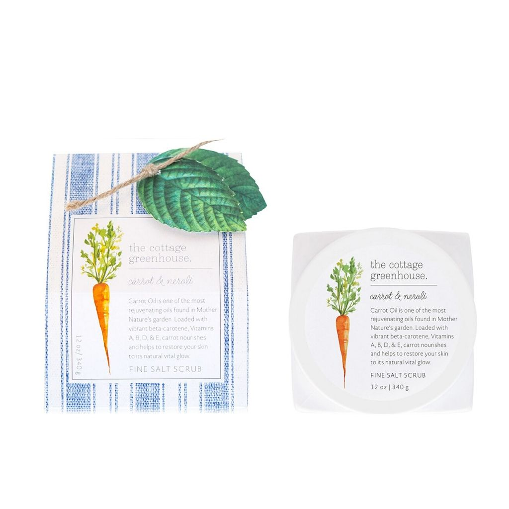 The Cottage Greenhouse - Fine Salt Scrub - Carrot and Neroli - Wanderlustre