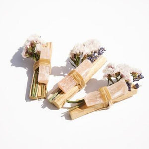 Palo Santo + Peach Selenite Bundle - Wanderlustre