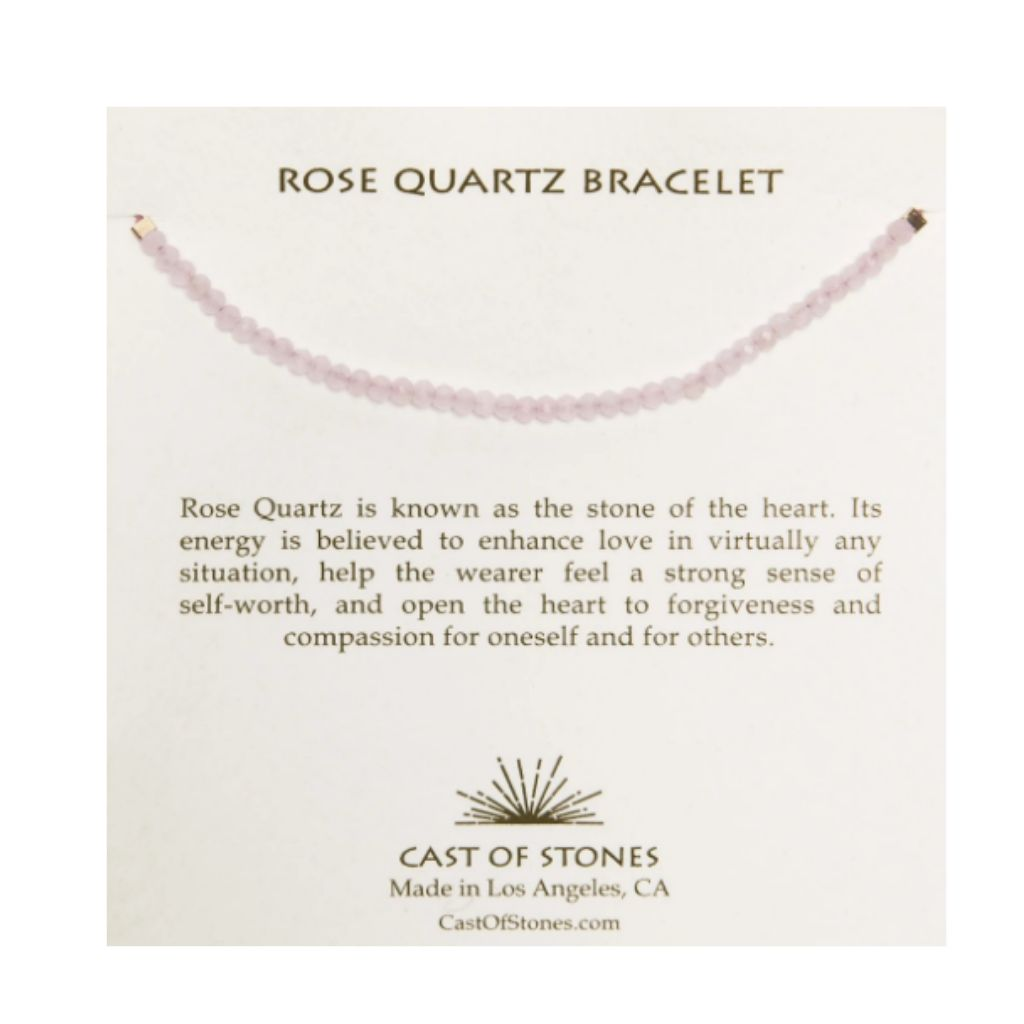 Cast Of Stones Rose Quartz Bracelet - Wanderlustre