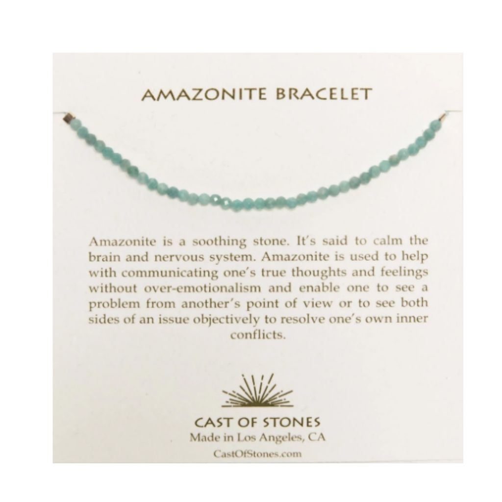 Cast Of Stones Amazonite Bracelet - Wanderlustre