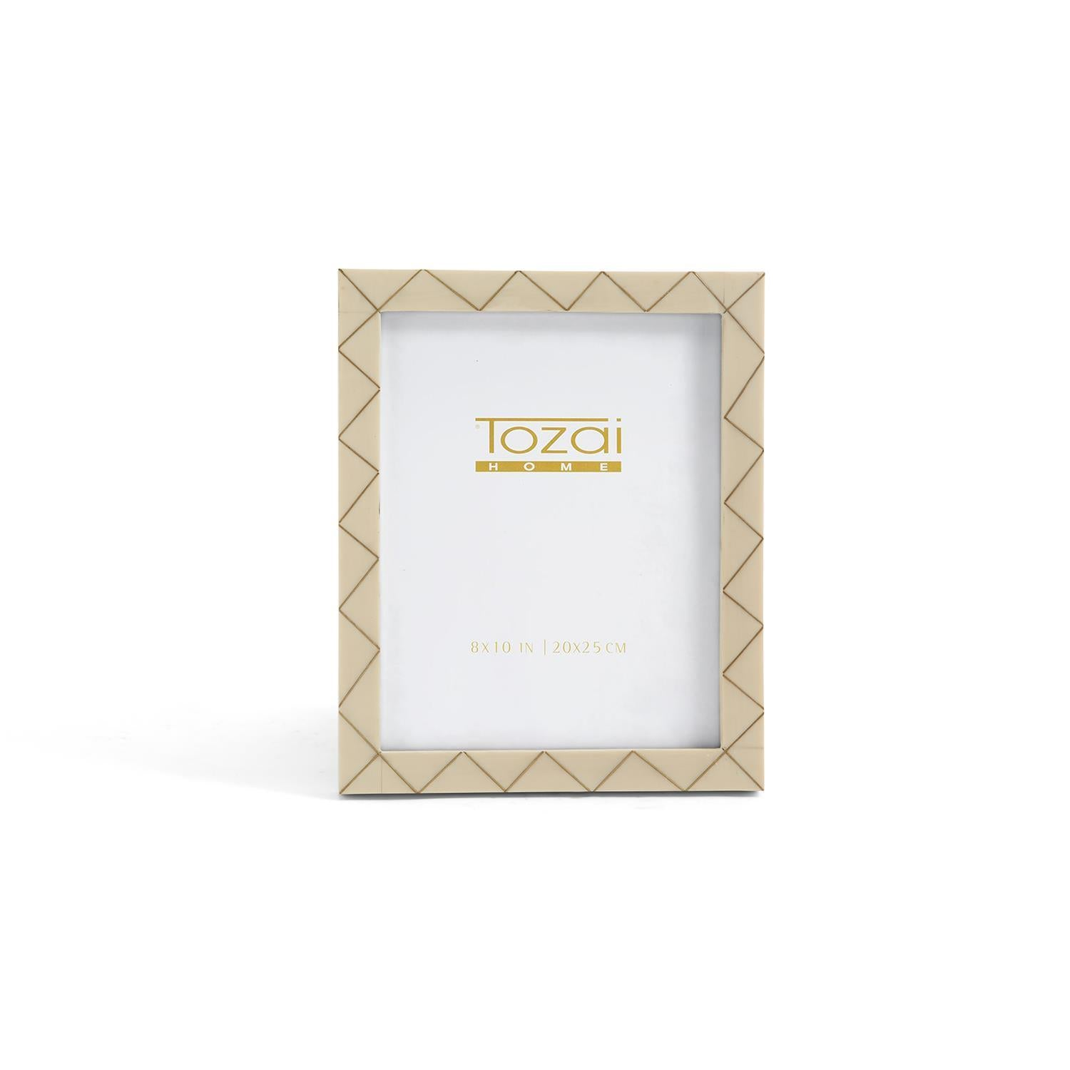 Triangle Brass Inlay Photo Frames