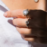 Load image into Gallery viewer, Leah Alexandra Rainbow Ring - Silver - Wanderlustre