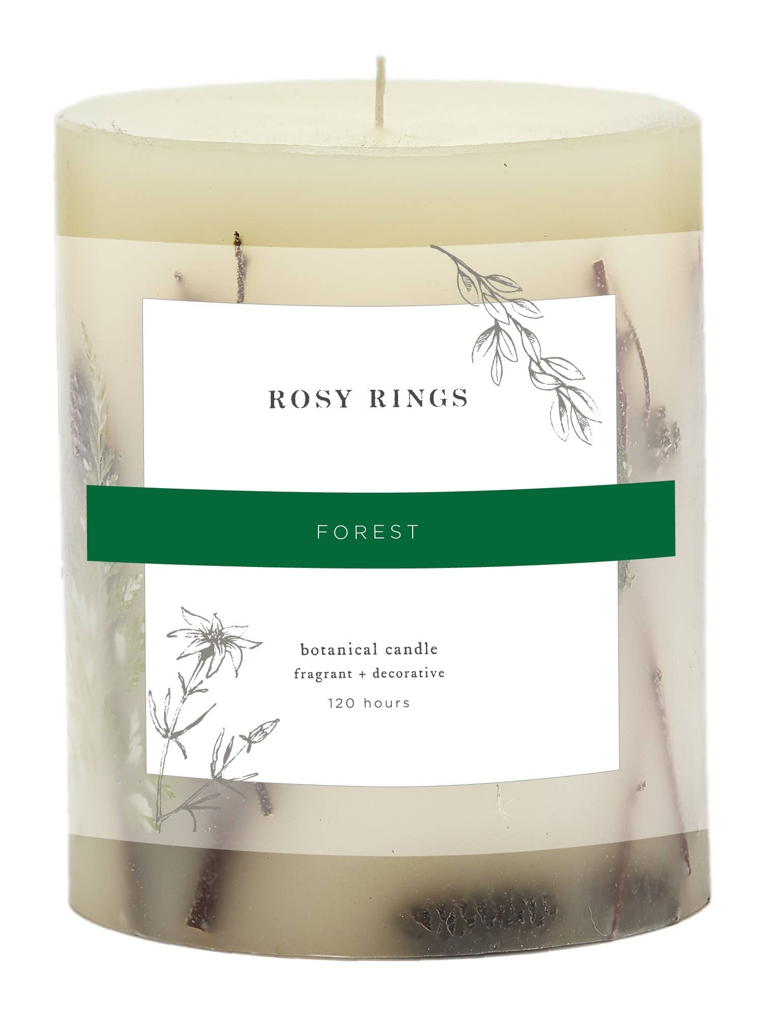 Rosy Rings Forest Round Botanical Candle