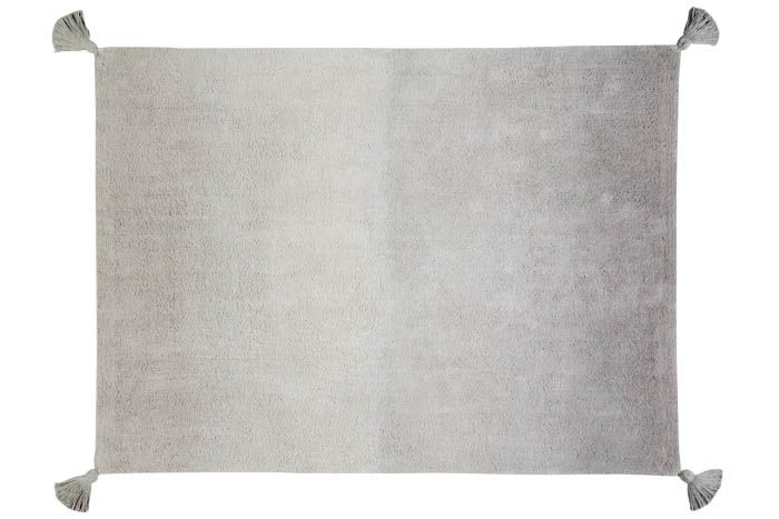 Ombré Dark Grey Washable Rug - Wanderlustre