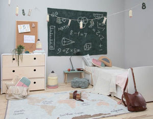 Vintage Map Washable Rug - Wanderlustre