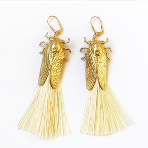 Valentine Viannay Cicada Tassel Earrings - Wanderlustre
