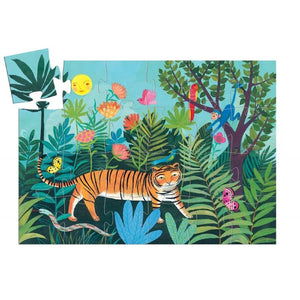 The Tiger's Walk Silhouette Puzzle by Djeco - Wanderlustre