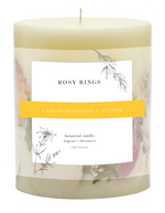 Load image into Gallery viewer, Rosy Rings Lemon Blossom & Lychee Round Botanical Candle
