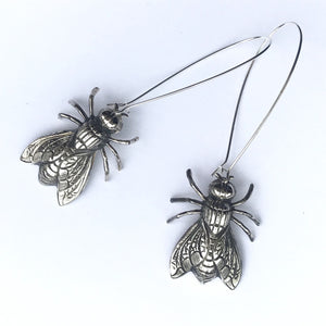 Valentine Viannay Brass Bee Earrings - Wanderlustre