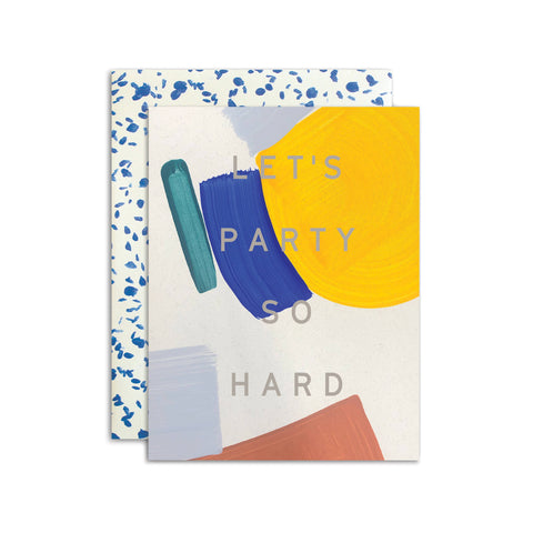 Moglea Hand-Painted Card - Let's Party