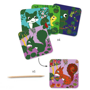 Country Creatures Scratch Cards by Djeco
