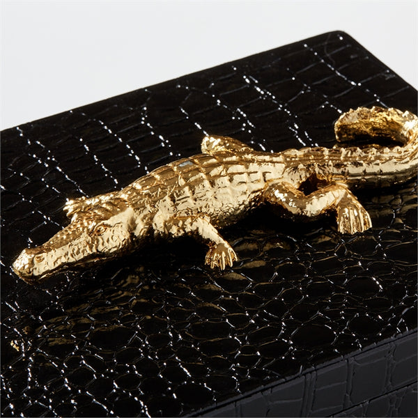 Alligator Box made with Vegan Leather