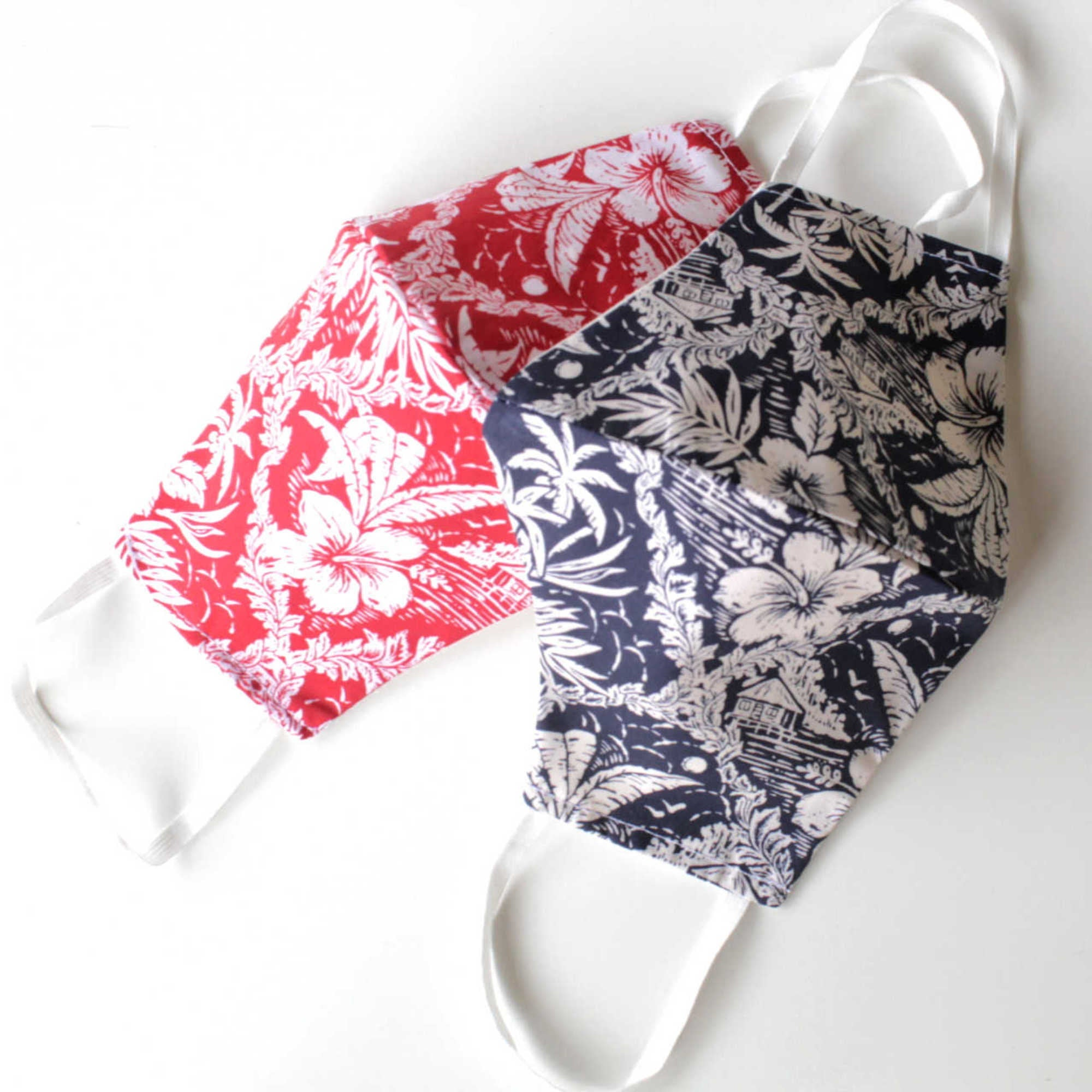 Hawaiian Print Face Mask - Wanderlustre