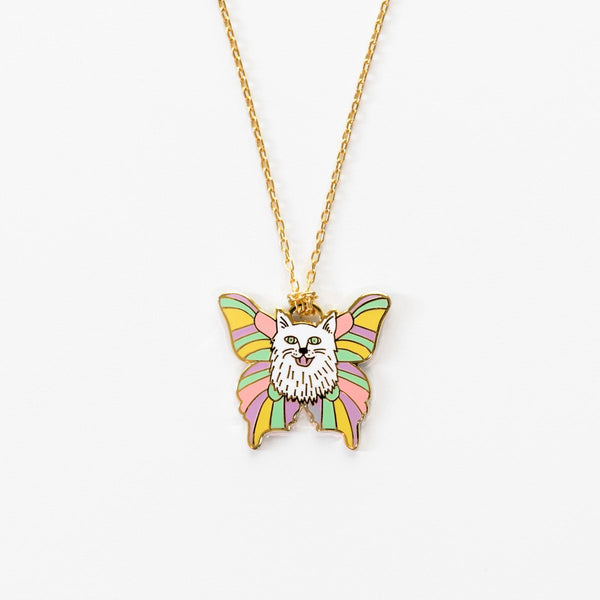 Yellow Owl Pendant Necklace