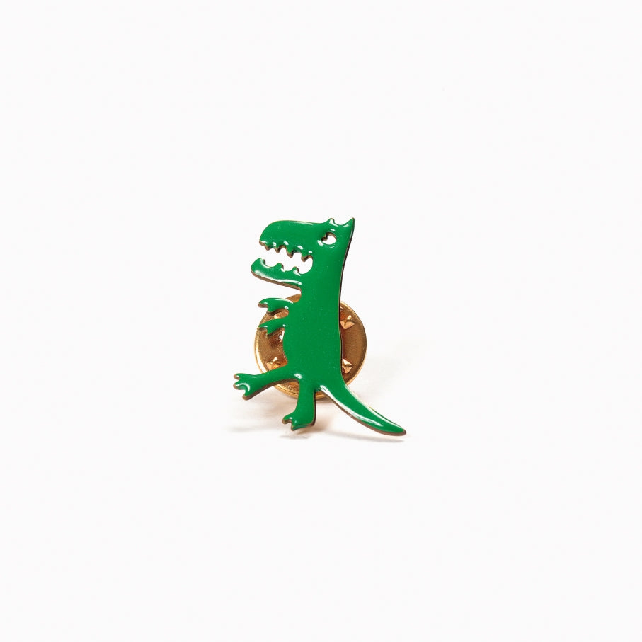 Titlee Paris Green Dinosaur Pin - Wanderlustre