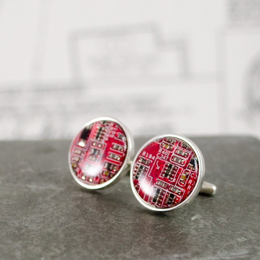 Circuit Board Cuff Links - Wanderlustre