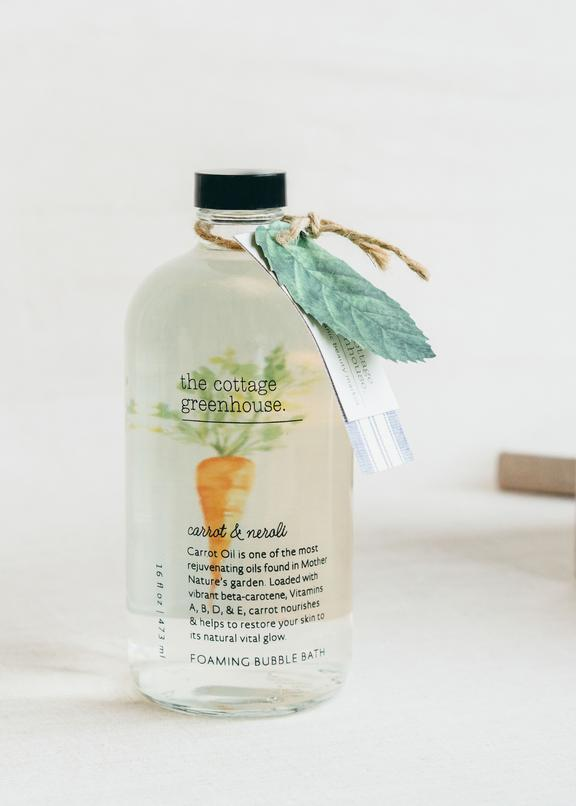 The Cottage Greenhouse Carrot and Neroli Foaming Bubble Bath - Wanderlustre