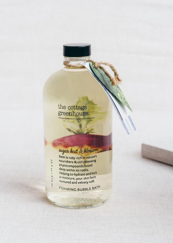 The Cottage Greenhouse Sugar Beet and Blossom Foaming Bubble Bath - Wanderlustre