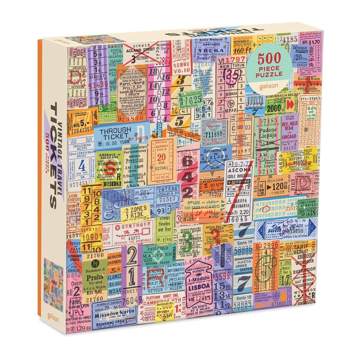 Vintage Travel Tickets 500-Piece Jigsaw Puzzle