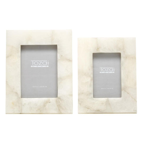 White Quartz Picture Frames