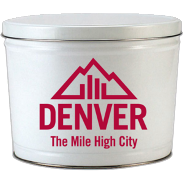 Visit Denver 2 Gallon Tin