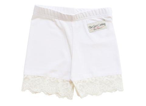 SPRING 2019- French Vanilla Icing Ruffle Shorties