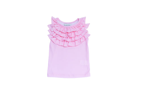PLAYTIME FAVORITES- Courtyard Ruffle Top (Strawberry Cream) - Be Girl Clothing
