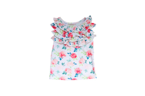 PLAYTIME FAVORITES- Courtyard Ruffle Top (Floral) - Be Girl Clothing