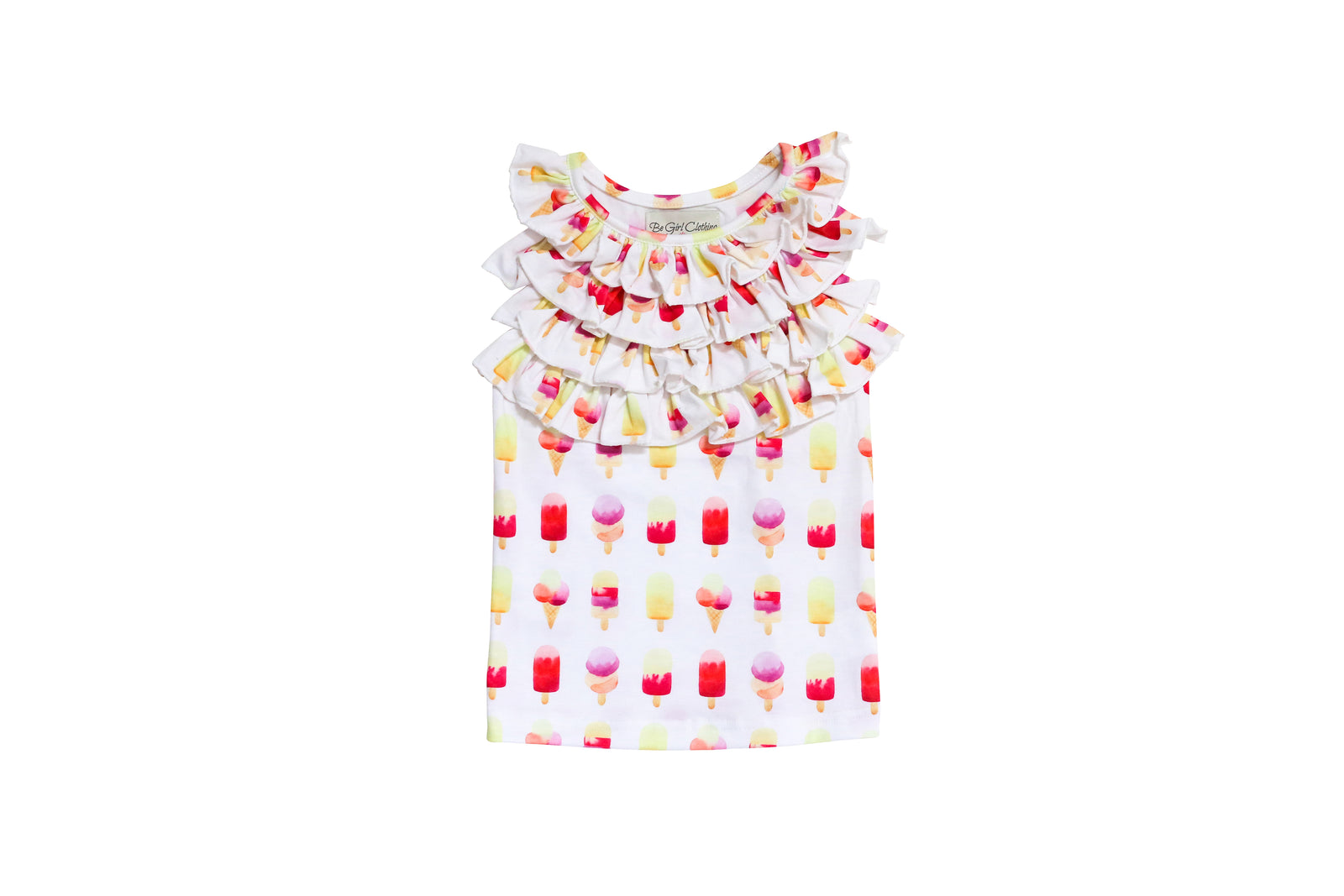 PLAYTIME FAVORITES- Courtyard Ruffle Top (Popsicle) - Be Girl Clothing