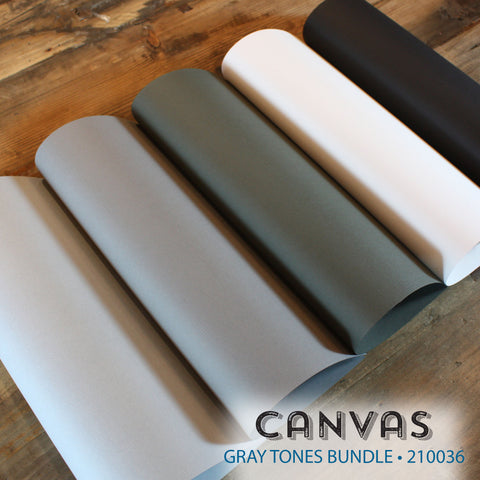 Canvas Gray Tones Bundle - 18 pcs.