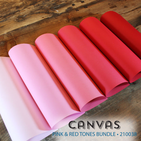 Canvas Pink & Red Tones Bundle - 18 pcs.