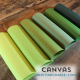 Canvas Green Tones Bundle - 18 pcs.