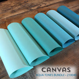 Canvas Aqua Tones Bundle - 18 pcs.