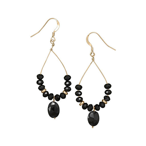 14/20 Gold Filled Black Spinel Drop Earrings-Earrings-Here Comes The Bling™