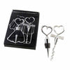 """Cheers to a Great Combination"" Bottle Stopper & Opener Set (Set of 4)"