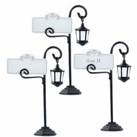 """Bourbon Street"" Streetlight Place Card Holder with Coordinating Place Cards (Set of 12)"