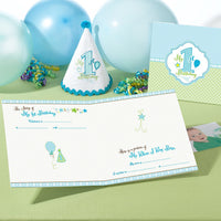 1st Birthday Memory Book-Blue-Memory Book-Here Comes The Bling™